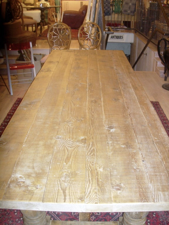 Monumental Harvest Table With Plank Top. image 4