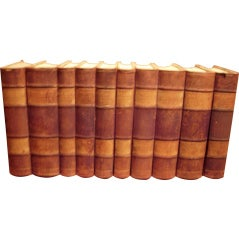 Set of Ten 19th Century Leather Bound Books