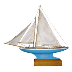 English Pond Sail Boat with Stand