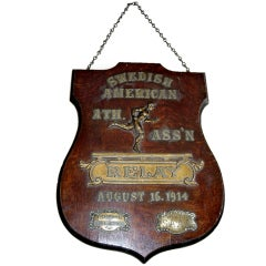 Early 20th Century Relay Trophy Plaque