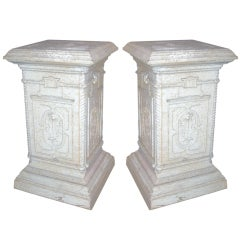 Pair of English Iron Pedestals