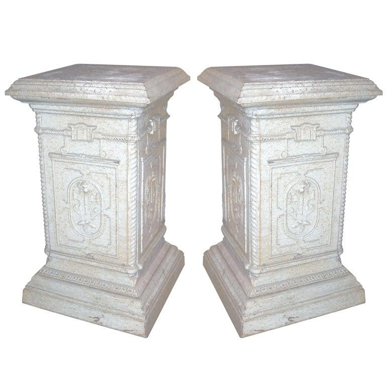 Pair of English Iron Pedestals