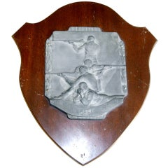 English Athletic Commemorative Wall Plaque
