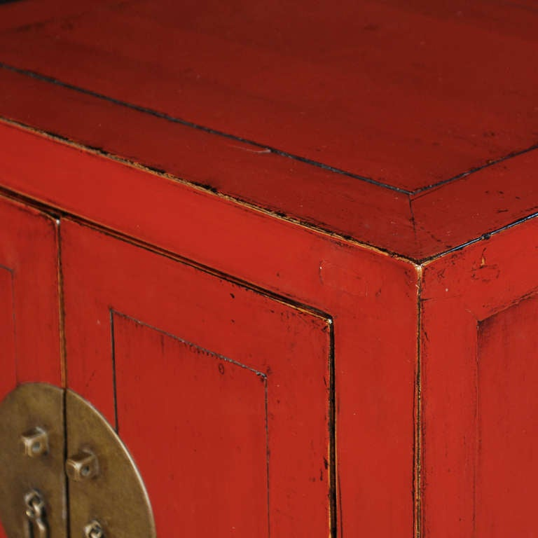 Early 20th Century Chinese Red Lacquer Chest 4