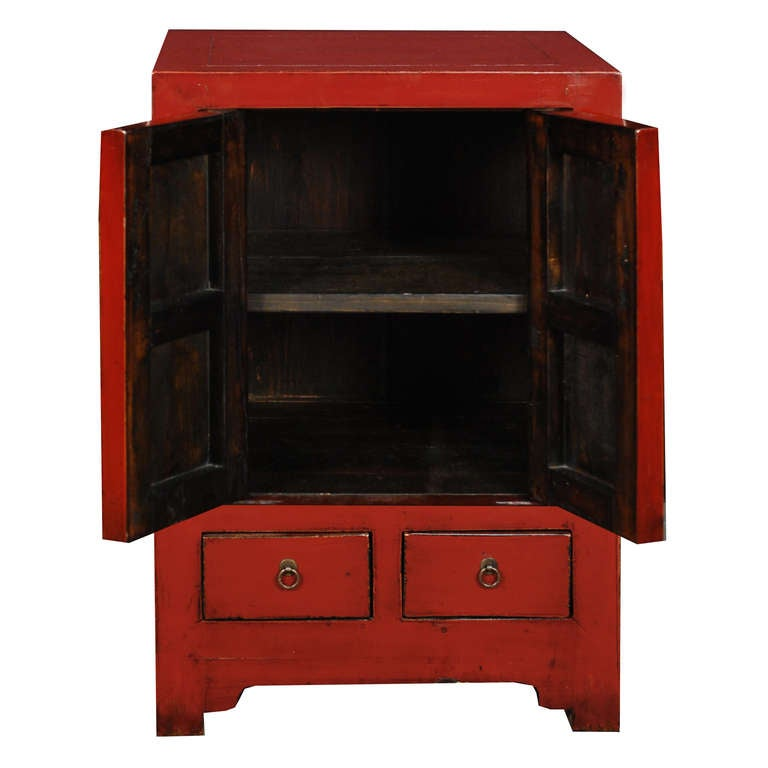 Early 20th Century Chinese Red Lacquer Chest 2