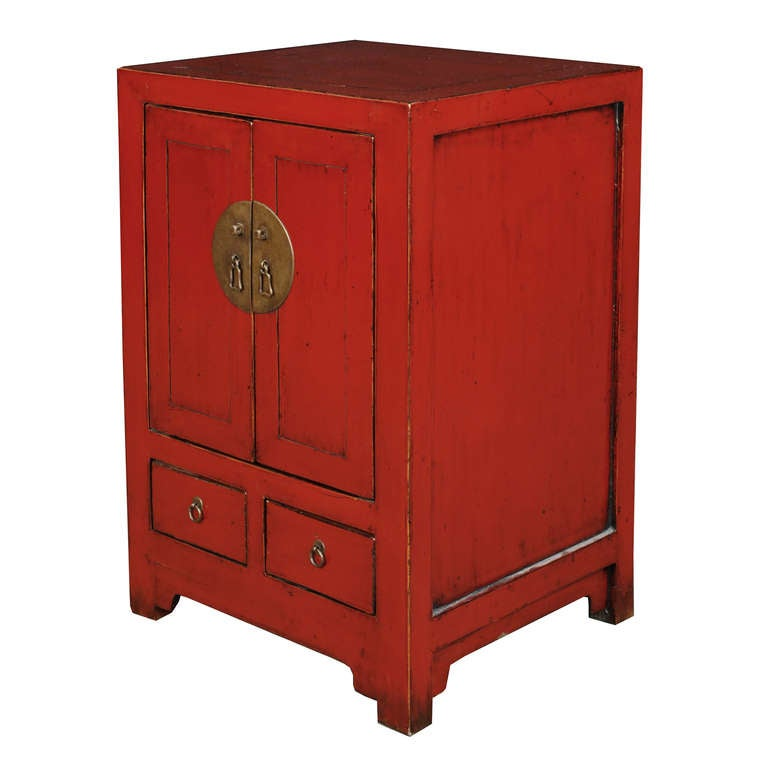 Early 20th Century Chinese Red Lacquer Chest 3