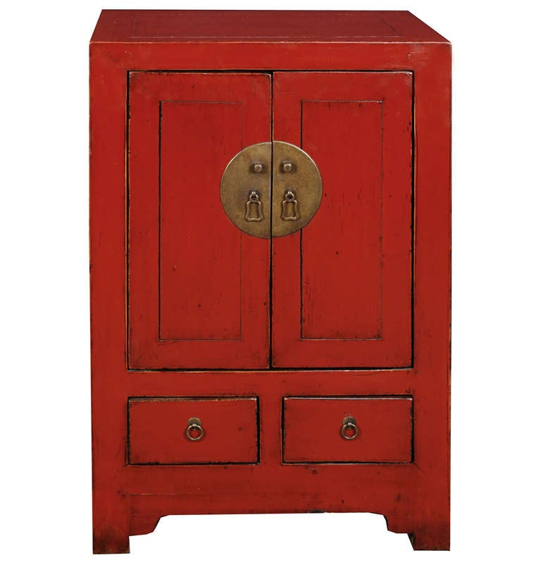 Early 20th Century Chinese Red Lacquer Chest 1
