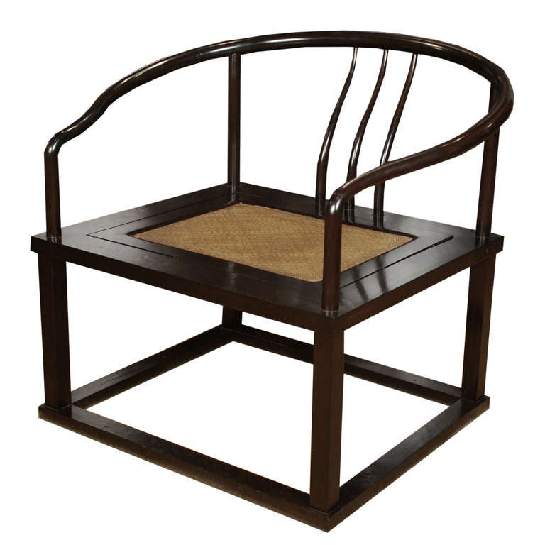 Pair of chinese roundback meditation chairs for sale at for Asian chairs for sale