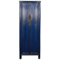Early 20th Century Narrow Lapis Cabinet