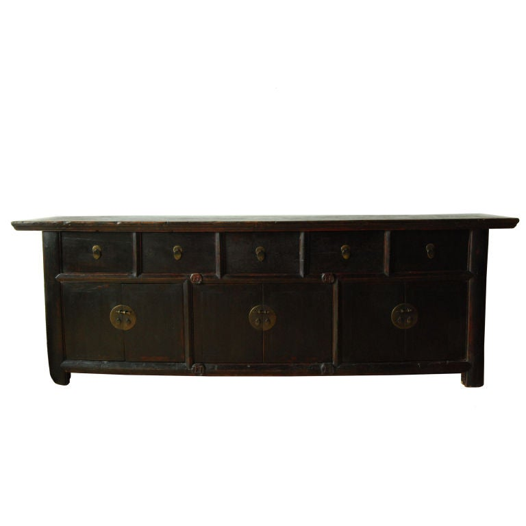 Five drawer six door coin coffer at 1stdibs for Sofa table with drawers and doors