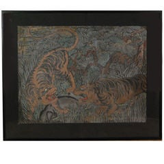 Painting of Two Tigers