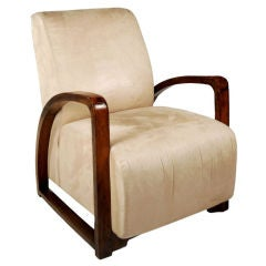 Chinese Deco Upholstered Chair
