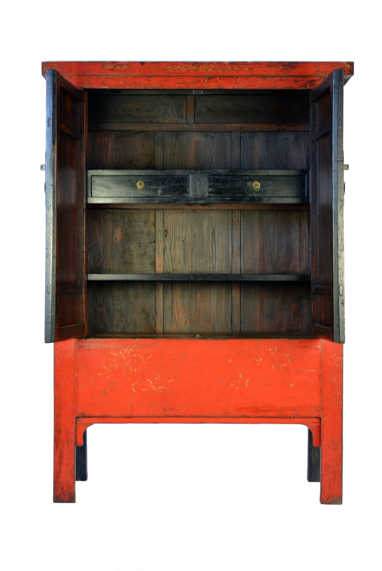 early 19th century chinese red lacquer cabinet for sale at