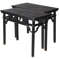 Pair of 19th Century Chinese Wine Tables