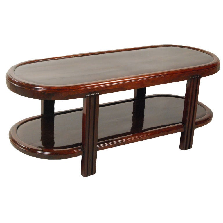 Oriental Oval Coffee Table: Chinese Deco Low Oval Table At 1stdibs