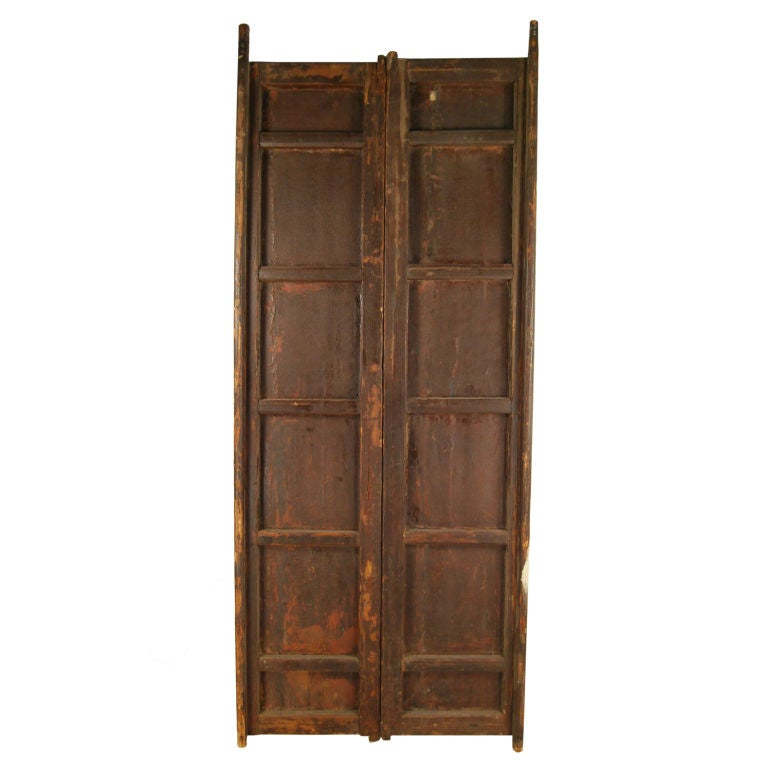 Pair of Black Lacquer Doors 4
