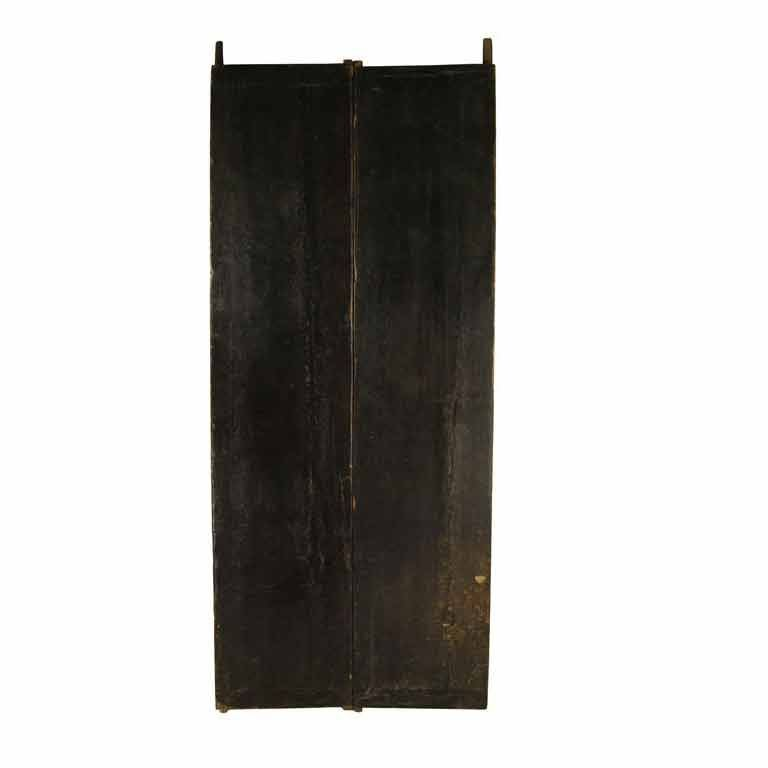 Pair of Black Lacquer Doors 1