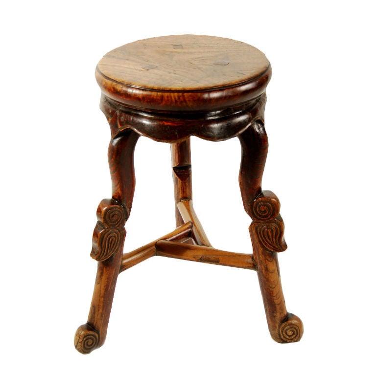 Three Legged Stool ~ Th century chinese three legged stool at stdibs