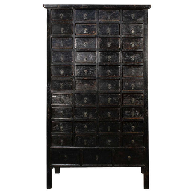 19th Century Chinese Tall Apothecary Cabinet 1