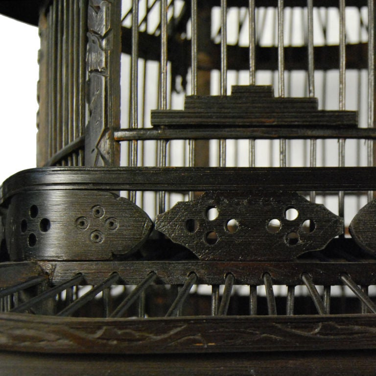 Early 20th Century Chinese Pagoda Bird Cage 2