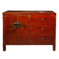 19th Century Chinese Red Lacquer Chest