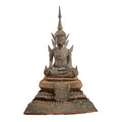 Monumental 19th Century Bronze Thai Buddha