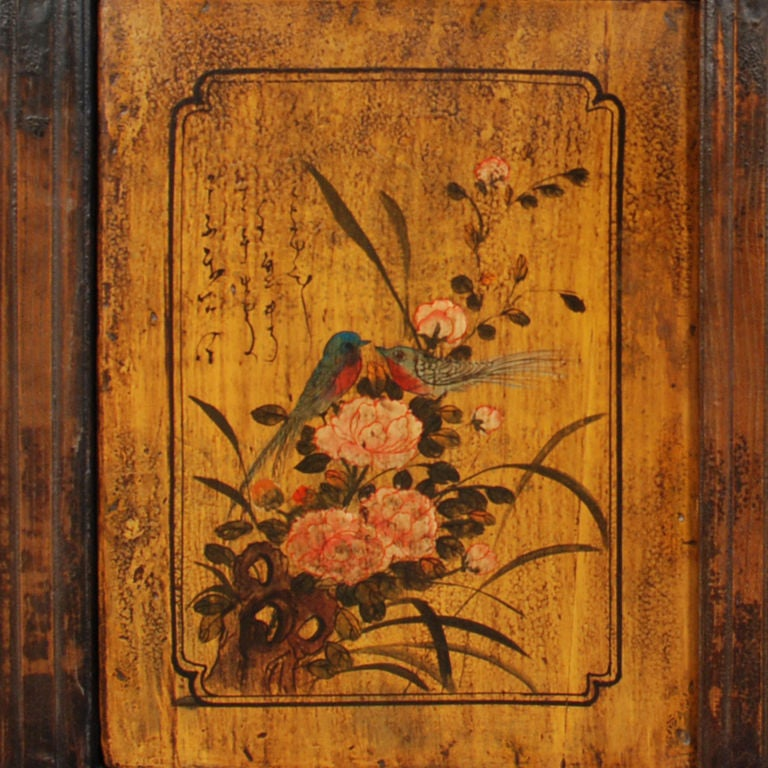 19th Century Mongolian Folk Painted Coffer image 4