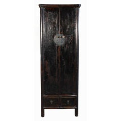 19th Century Chinese Tall and Narrow Cabinet