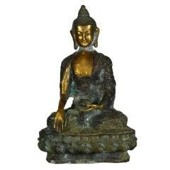 19th Century Chinese Bronze Medicine Buddha
