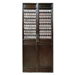 Pair of Early 19th Century Chinese Lattice Courtyard Panels