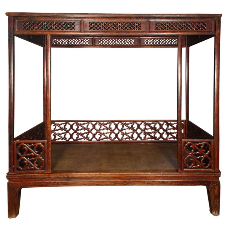 19th century chinese canopy bed at 1stdibs for Chinese style furniture for sale