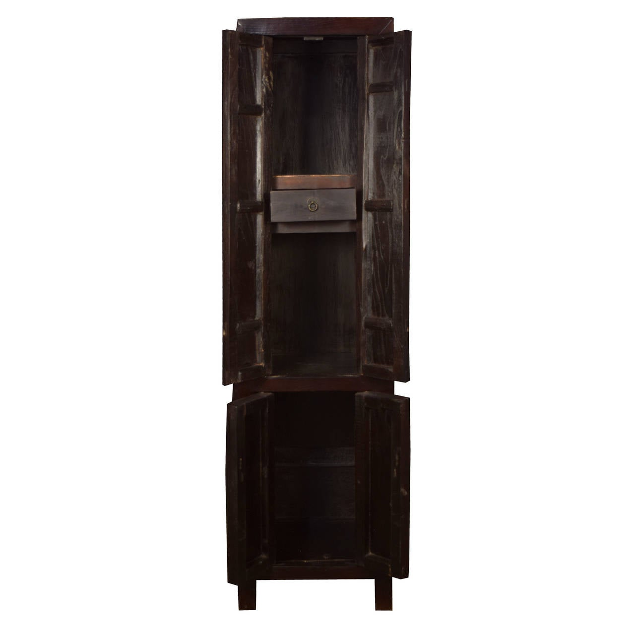 narrow cabinet with doors 19th century four door narrow cabinet at 1stdibs 23675