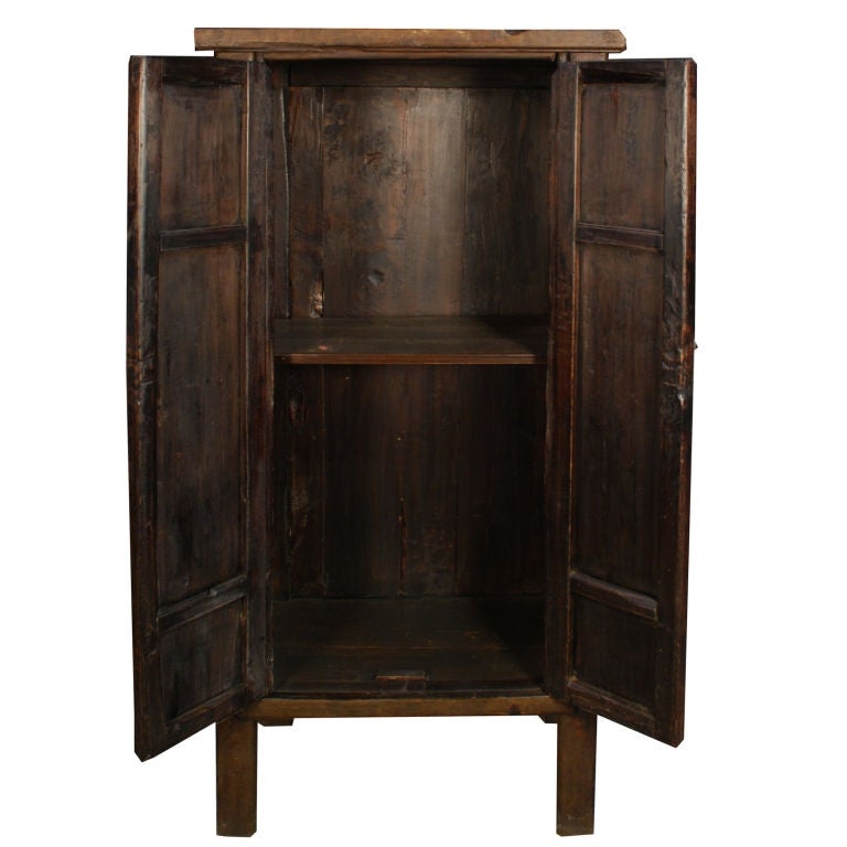 Elmwood Kitchen Cabinet Door Styles: 19th Century Chinese Narrow Cabinet At 1stdibs