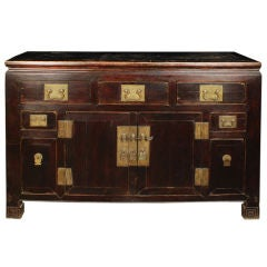 19th Century Chinese Five-Drawer Two-Door Coffer