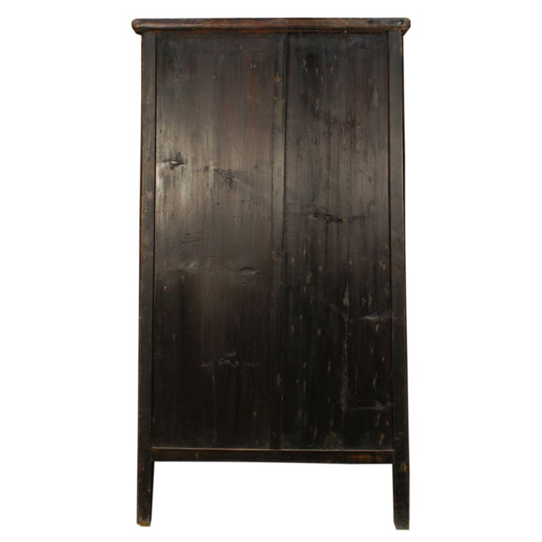 Crackle Kitchen Cabinets: 19th Century Chinese Black Crackle Lacquered Cabinet At