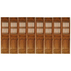 Set of Eight 19th Century Chinese Courtyard Panels