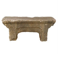 Early 19th Century Chinese Stone Garden Bench