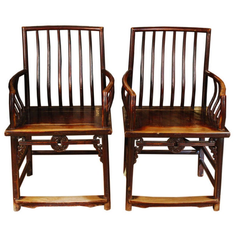 pair of 19th century chinese good fortune chairs at 1stdibs. Black Bedroom Furniture Sets. Home Design Ideas