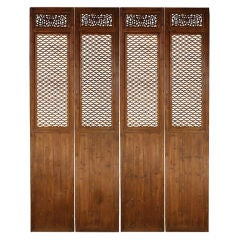 Set of Four 19th Century Chinese Courtyard Panels