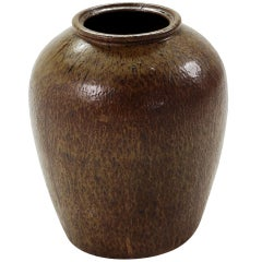 19th Century Chinese Brown Glazed Vase