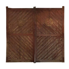 Pair of Chinese 20th Century Grand Courtyard Doors