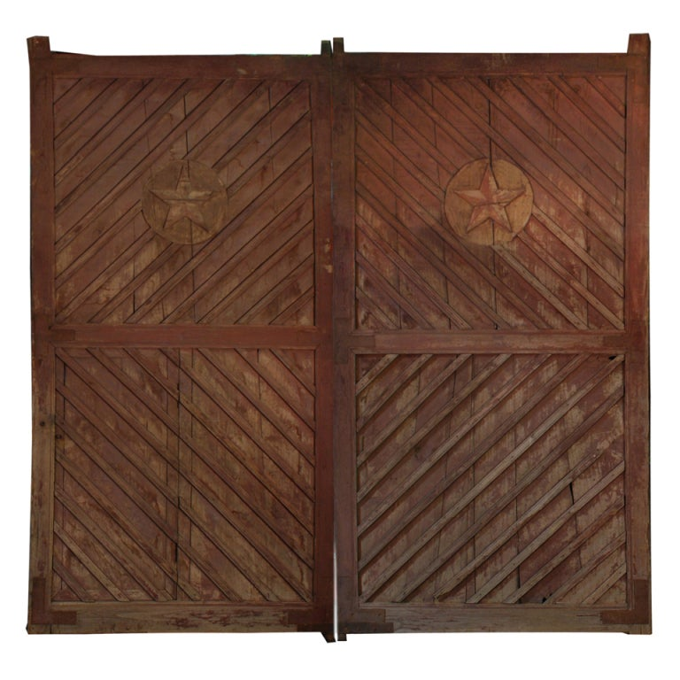 Pair of Chinese 20th Century Grande Courtyard Doors