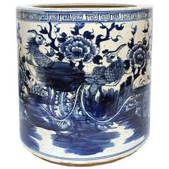Chinese Blue and White Phoenix Water Pot