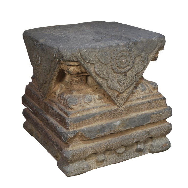 Stone Column Base : Pair of ming stone column bases for sale at stdibs