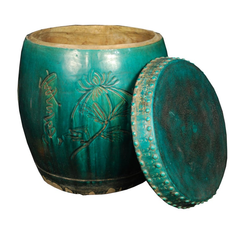 Early 20th Century Chinese Garden Stool With Lid At 1stdibs