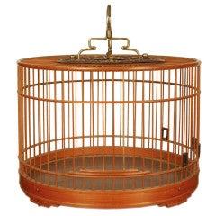 19th Century Chinese Bamboo Bird Cage