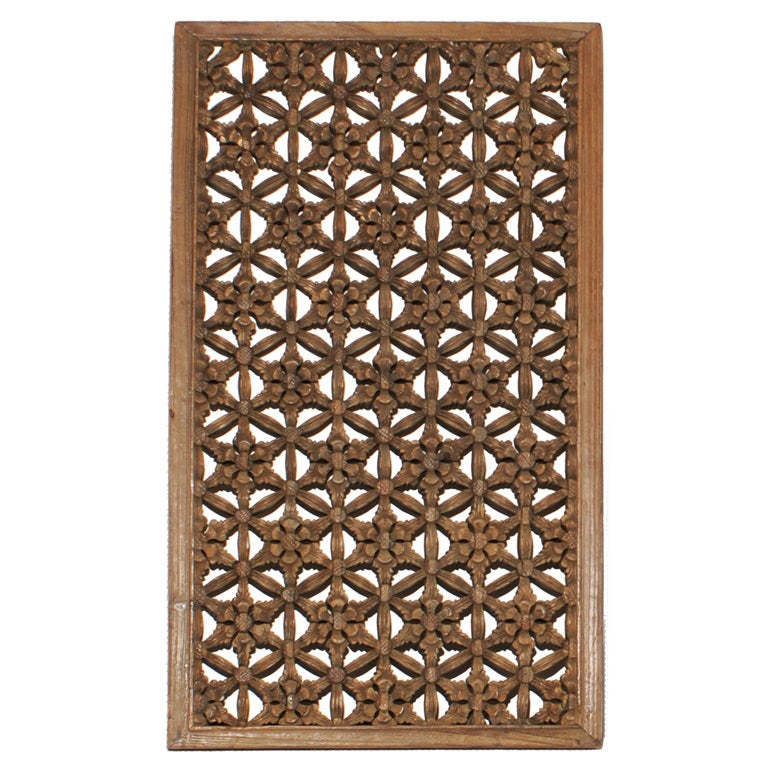 19th century chinese floral lattice panel at 1stdibs for Lattice screen
