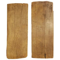 Pair of 18th Century Chinese Reclaimed Boards
