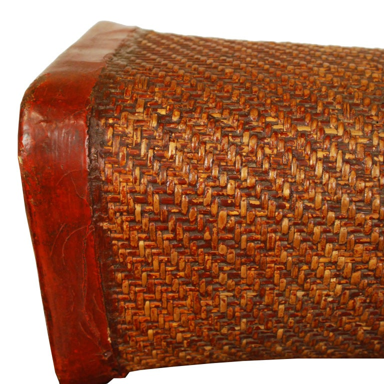 19th Century Chinese Bamboo Pillow on Stand at 1stdibs