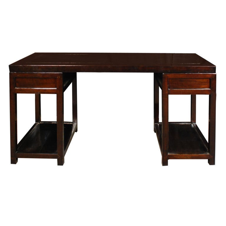19th Century Chinese Pedestal Desk 6
